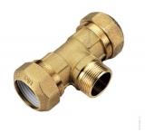 Тройник труба-наружная резьба-труба