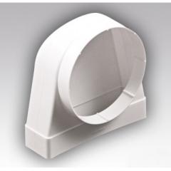 Соединитель 90° прямоугольного воздуховода 60х204 с круглым D100мм
