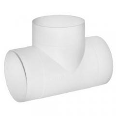 Тройник Т-образный круглый D125 пластиковый