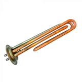 ТЭН RF64, 2,5 кВт (1,0+1,5), L 200мм, медь, Ø64, клеммы под разъем, 220В, трубка термостата и термозащиты (нерж), для водонагревателей