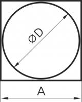 Переходник с квадрата на круг кв 100 D90