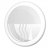 Решетка прямоточная круглая с фланцем АБС D100