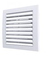 1515RR10F, Решетка вентиляционная вытяжная 150х150 с фланцем D100