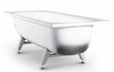 Ванна стальная ВИЗ Antika 160x70x40 белая орхидея, с опорной подставкой