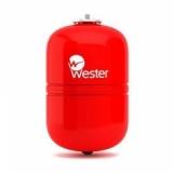 Бак мембранный Wester 24л. для отопления (красный)