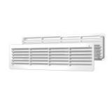 4409ДП, Решетка вентиляционная переточная АБС 450х91, белая