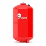 Бак мембранный Wester 80л. для отопления (красный)