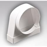Соединитель 90° прямоугольного воздуховода 55х110 с круглым D100мм
