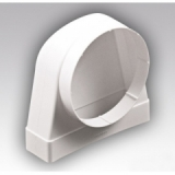 Соединитель 90° прямоугольного воздуховода 60х204 с круглым D125мм