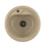 Мойкa ML-GM10 круглая, светло-розовая (311), 440мм (глуб. чаши 180)