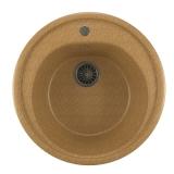 Мойкa ML-GM11 круглая, песочная (302), 500мм (глуб. чаши 180)