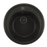 Мойкa ML-GM11 круглая, черная (308), 500мм (глуб. чаши 180)