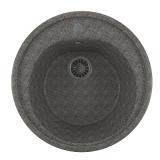 Мойкa ML-GM11 круглая, темно-серая (309), 500мм (глуб. чаши 180)
