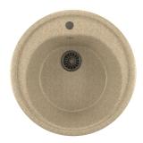 Мойкa ML-GM11 круглая, светло-розовая (311), 500мм (глуб. чаши 180)