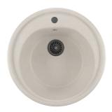 Мойкa ML-GM11 круглая, белый (331), 500мм (глуб. чаши 180)