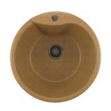 Мойкa ML-GM12 круглая, песочная (302), 480мм (глуб. чаши 210)