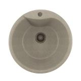 Мойкa ML-GM12 круглая, серая (310), 480мм (глуб. чаши 210)