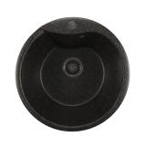 Мойкa ML-GM12 круглая, черная (308), 480мм (глуб. чаши 210)