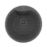Мойкa ML-GM12 круглая, темно-серая (309), 480мм (глуб. чаши 210)