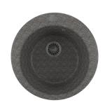 Мойкa ML-GM13 круглая, темно-серая (309), 495мм (глуб. чаши 190)