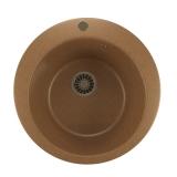 Мойкa ML-GM13 круглая, терракотовая (307), 495мм (глуб. чаши 190)