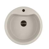 Мойкa ML-GM09 круглая, белая (331), 490мм (глуб. чаши 185)