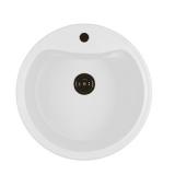 Мойкa ML-GM09 круглая, молоко (341), 490мм (глуб. чаши 185)