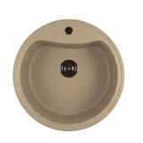 Мойкa ML-GM09 круглая, светло-розовая (311), 490мм (глуб. чаши 185)