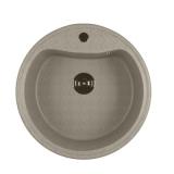 Мойкa ML-GM09 круглая, серая (310), 490мм (глуб. чаши 185)