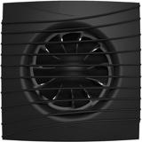 SILENT 4C Matt black, Вентилятор осевой вытяжной с обратным клапаном D 100, декоративный
