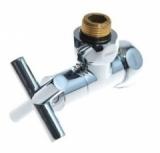 Вентиль запорный угловой 3/4×1/2 г/ш крест