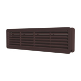 4409ДП кор, Решетка вентиляционная переточная АБС 450х91, коричневая