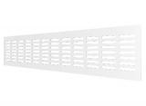 4808DP Al, Решетка переточная алюминиевая с покрытием полимерной эмалью 480x80