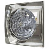 AURA 5C Chrome, Вентилятор осевой вытяжной с обратным клапаном D 125, декоративный