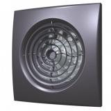AURA 4C dark gray metal, Вентилятор осевой вытяжной с обратным клапаном D 100, декоративный