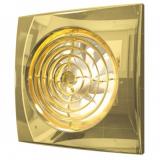 AURA 5C Gold, Вентилятор осевой вытяжной с обратным клапаном D 125, декоративный