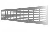 4808DP Al Silver, Решетка переточная алюминиевая с анодированным покрытием 480x80, Silver