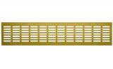 4808DP Al Сhampagne, Решетка переточная алюминиевая с анодированным покрытием 480x80, Сhampagne