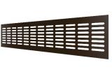 4808DP Al Dark bronze, Решетка переточная алюминиевая с анодированным покрытием 480x80, Dark bronze