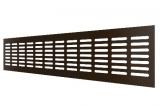 4810DP Al Dark bronze, Решетка переточная алюминиевая с анодированным покрытием 480x100, Dark bronze