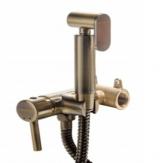 Смеситель для биде встроенный HFG- 3302 Bronze