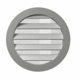 10РКМ, Решетка вентиляционная круглая D125 алюминиевая с фланцем D100