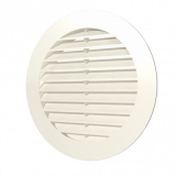 12РКН Ivory, Решетка наружная вентиляционная круглая D150 с фланцем D125, ASA