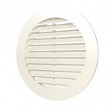 15РКН Ivory, Решетка наружная вентиляционная круглая D200 с фланцем D150, ASA