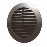 12РКН кор, Решетка наружная вентиляционная круглая D150 с фланцем D125, ASA кор