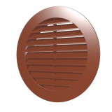 12РКН терр, Решетка наружная вентиляционная круглая D150 с фланцем D125, ASA, терракотовая