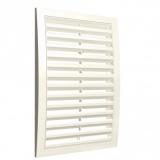 Решетка вентиляционная с наклонными фиксированными жалюзи АБС 150х150 Ivory