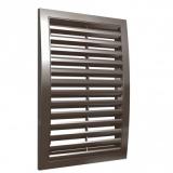 1825РРН кор, Решетка вентиляционная наружная, разъемная 180x250, ASA-пластик, коричневая