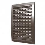 1825РРПН кор, Решетка вентиляционная наружная, разъемная 180x250, ASA-пластик, коричневая