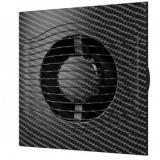 SLIM 5C black carbon, Вентилятор осевой вытяжной с обратным клапаном D 125, декоративный